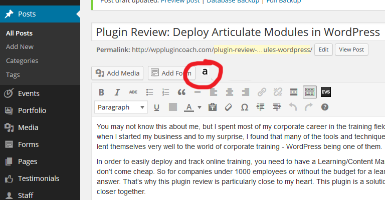 Deploy Articulate Modules in WordPress