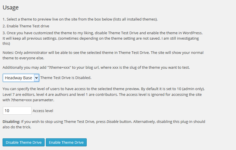Theme Test Drive WordPress Plugin Review.
