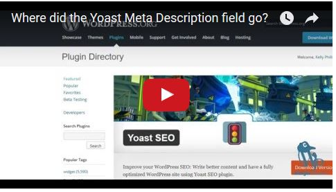 Where did the Yoast Meta Description Field Go?