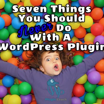 Seven Things You Should Never Do With A WordPress Plugin